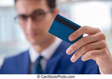 ember, kiegyenlít, noha, hitelkártya, online