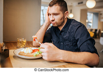 ember, lélegzés, cafe., ülés, unott, fork., azt, bús, látszó, birtok, növényi, asztal, darab, out., ő