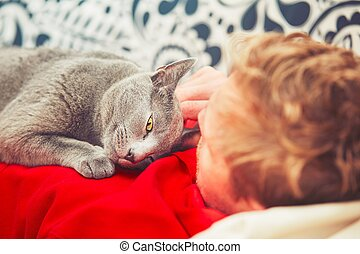 ember, macska