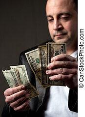 ember, számolás, készpénz