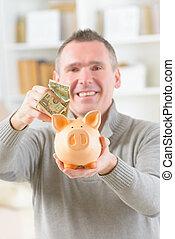 ember, takarékbetét pénz