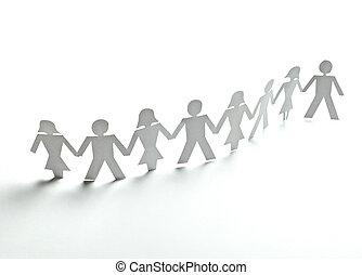 emberek, dolgozat, kapcsoló, összeköttetés, közösség