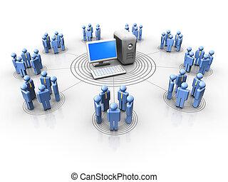 emberek, hálózat