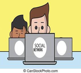 emberek, képben látható, társadalmi, hálózat
