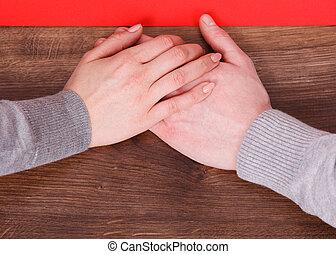 emberek, két, hands., birtok