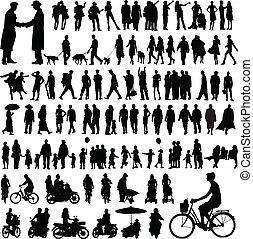 emberek, körvonal