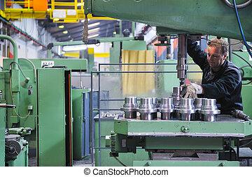emberek, munkás, gyár, iparág