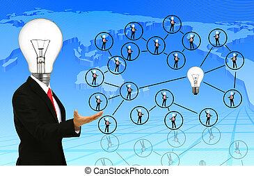 emberek, társadalmi, hálózat, kommunikáció
