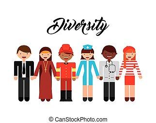 emberek, változatosság, tervezés