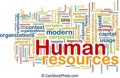 emberi, fogalom, erőforrás, háttér