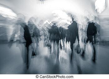 emberi forgalom, alatt, a, lobbizik, közül, a, föld alatti,...