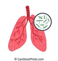 emberi, healthcare, banner., gümő, világ, tuberkulózis, nap, betegség, bacillus., megelőzés, fogalom, tüdő, infected