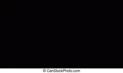 Embers on black background - A looping clip of embers ...