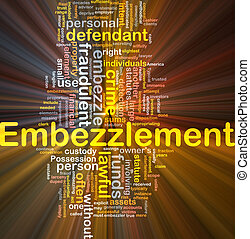 Embezzlement background concept glowing - Background concept...