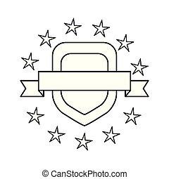 emblème, écusson, vide, gabarit