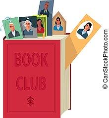 emblème, club livre