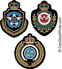 emblème, conception, écusson