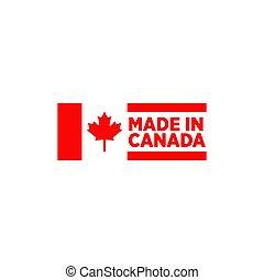 emblème, fait, logo, conception, canada, produit