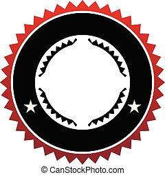 emblème, gabarit, vide