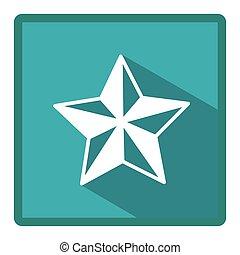 emblème, image, étoile, icône
