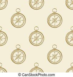 emblème, naval, vendange, symbole, collection, étiquette, fond, compas, modèle, mer