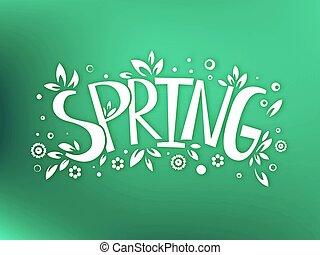 emblème, printemps, conception