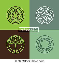 emblème, résumé, vecteur, -, écologie