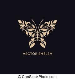 emblème, résumé, vecteur, conception, gabarit, logo
