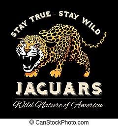 emblème, symbole, léopard, vecteur, logo, jaguar
