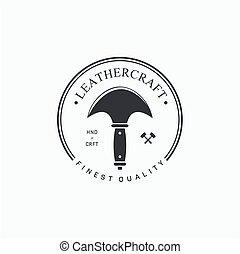 emblèmes, étiquettes, leathercraft
