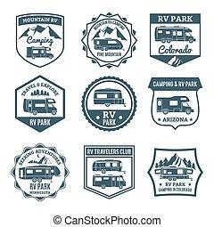 emblèmes, camping car