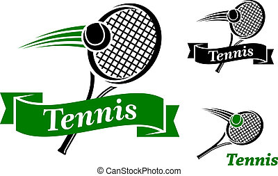 emblèmes, tennis, sports