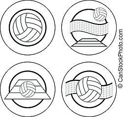 emblèmes, volley-ball, gabarit