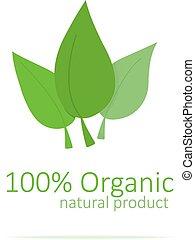 emblém, organický