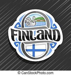 emblém, vektor, finsko