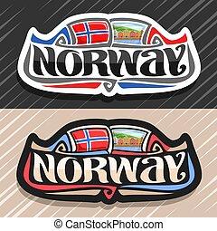 emblém, vektor, norsko