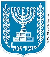 embléma, közül, izrael