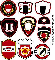embleem, badge, symbool, ontwerp