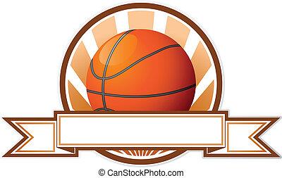 embleem, basketbal