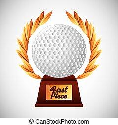 embleem, club, golf