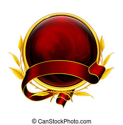 embleem, eps10, rood