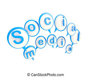 embleem, media, vrijstaand, sociaal, glanzend, pictogram