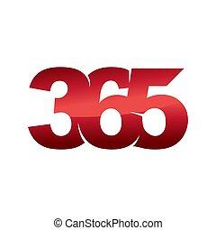 Emblem 365 infinity logo icon design illustration vector color