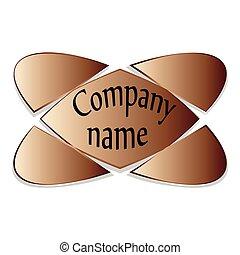 Emblem, a symbol of the five elements brown