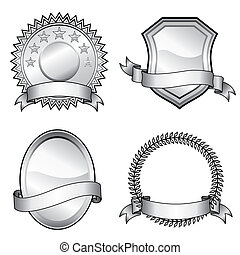 Emblem Badges - Black and white vector format of emblem...