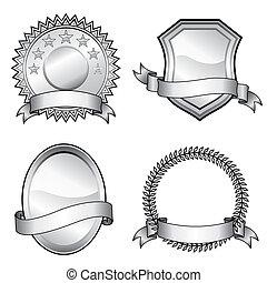 Emblem Badges - Black and white vector format of emblem...