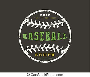 Emblem baseball championship. Graphic design for t-shirt