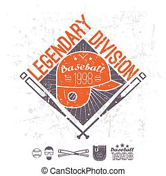 Emblem baseball legendary division of college - Emblem...