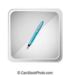 emblem blue ballpoint icon