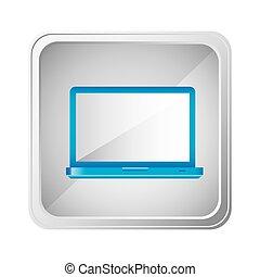 emblem blue laptop icon